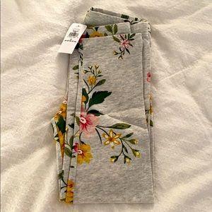 Flower gray leggings